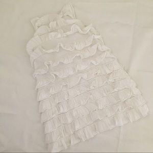 J. Crew Dresses - Crewcuts White Cotton Ruffle Dress